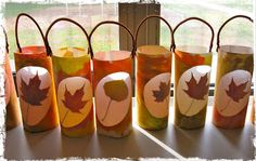 River Bliss: Savoring Light: Leaf Lantern Tutorials Yes. Autumn Crafts, Fall Crafts For Kids, Autumn Art, Nature Crafts, Autumn Theme, Diy For Kids, Holiday Crafts, Harvest Crafts For Kids, Autumn Leaves