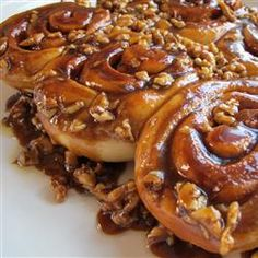 It's National Sticky Bun Day! *Finally*, right? Repin for a cinnamony treat. | Ooey-Gooey Cinnamon Buns