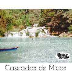 Micos waterfalls in San Luis Potosí, is excellent for kayak lovers with 7 waterfalls.  #VisitMexico