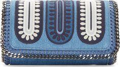 Stella McCartney Blue Denim Patchwork Falabella Bag