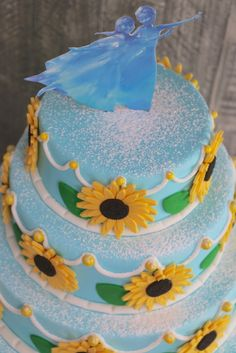 Frozen Party Cake Idea - Frozen Fever Cake Inspiration