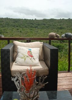 The decor is selected to fit in with the surroundings at Sibuya Game Reserve Bush Lodge Kenton on Sea, Eastern Cape, South Africa www.sibuya.co.za