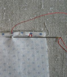 Rolled edge tutorial, for handkerchiefs, but useful for scarves too