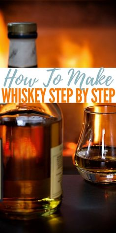 Homebrewing projects How To Make Whiskey Step by Step Who doesnt like a shot of whiskey on a cold night I love it. My granddad has been taking a shot of whiskey every night before bed for over 50 years and he swears it keep him healthy. Homemade Whiskey, Homemade Alcohol, Homemade Liquor, Homemade Liqueur Recipes, Home Distilling, Distilling Alcohol, Whiskey Shots, Scotch Whiskey, Aged Whiskey