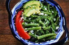 Mexican Green Bean Salad Recipe | Simply Recipes  Made 10/26/13. I could eat this all day! It was a great side dish to my Mexican meal.