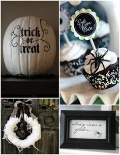 Black and White Halloween by heidi