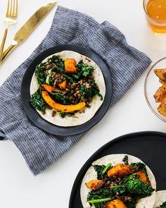 Lentil, Kale + Roasted Butternut Squash Tacos -a Better Happier St. Sebastian