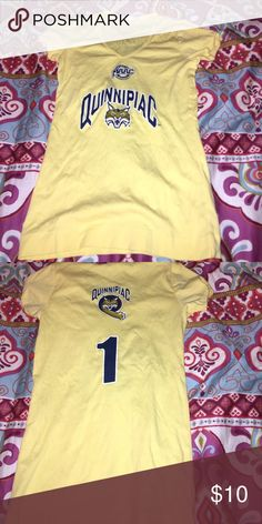 Quinnipiac University Women's V-Neck T-Shirt This shirt is so cute! Good condition! The shirt is a little tight around the sleeves so consider when purchasing!! Tops Tees - Short Sleeve