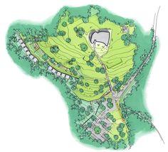 Sketch, site plan, © Renzo Piano Building Workshop