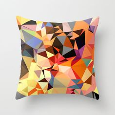 Orange geometric design pillow cover, great for a modern home. IMy modern pillow covers are made from spun polyester poplin fabric, and features a stylish art image on both sides. Bright Pillows, Pink Throw Pillows, Modern Throw Pillows, Orange Pillows, Colorful Pillows, Boho Pillows, Orange Pillow Covers, Modern Pillow Covers, Outdoor Pillow Covers