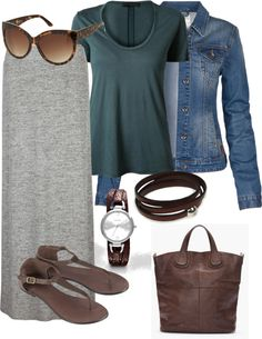 """Teal Grey Travel Outfit"" by rachelle710 on Polyvore"