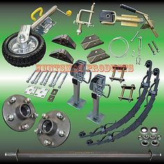 camper trailer DIY set. axle, springs, j/wheel, parts