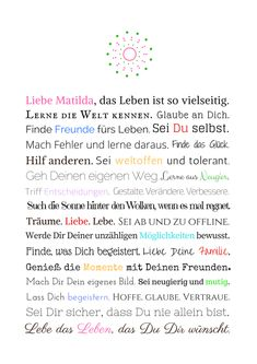 Geschenk Erstkommunion / Jugendweihe Mädchen – Online-Shop Frau Soth