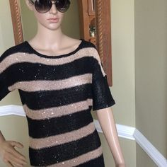 Sexy gorgeous top New with tags 59% polyester 41% cotton beautiful with bling Absolutely  Tops