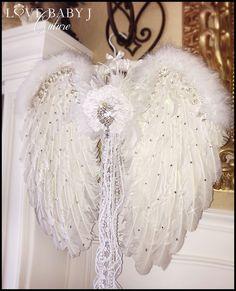 Inge vidrio adornos aquí Angels Wing en oro ala de ángel