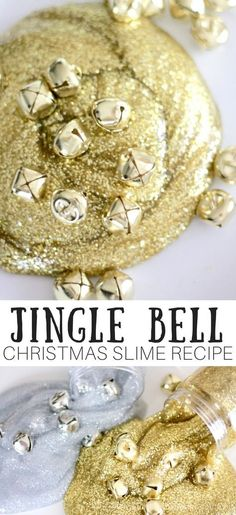 When I think of jingle bells, I always end up with the Christmas song stuck in my head. I found a few packages of these gold and silver bells at the local dollar store the other day, and I was instantly inspired. What was I inspired to do? Make slime of course and of course a festive jingle bell Christmas slime recipe was exactly what I needed. Sparkling gold and silver slime filled with bells is an awesome holiday activity. #slime #slimerecipe #jinglebellslime #gold slime #silverslime…