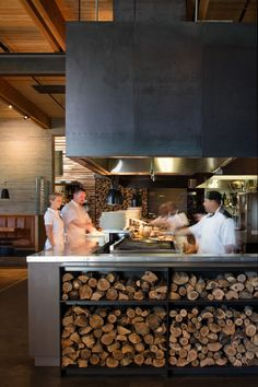 Cowiche Canyon Kitchen and Icehouse Bar / Graham Baba Architects The Effective Pictures We Offer You About Restaurant rustic A quality picture can tell you many things. You can find the most beautiful Restaurant Kitchen Design, Best Kitchen Design, Meat Restaurant, Restaurant Concept, Restaurant Interior Design, Design Despace, Cafe Design, Pizzeria Design, Loft Interior