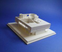 Le corbusier, VILLA SAVOYE, architectural 1:200 scale model + plexiglass cover