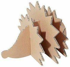 Bildergebnis für Herbstdekoration Kindergarten - Fall Crafts For Toddlers Autumn Crafts, Fall Crafts For Kids, Diy For Kids, Diy And Crafts, Arts And Crafts, Cardboard Animals, Cardboard Crafts, Paper Crafts, Hedgehog Craft