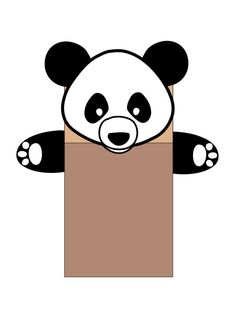 Chinese Panda Paper Bag Puppet | Multicultural Crafts for Kids