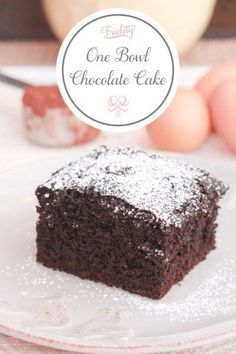 """A super simple chocolate cake that is moist and fluffy and whips up in just one bowl. It's the """"no more boxed cake"""" recipe. Just as easy, just as good!"""