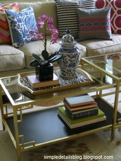 super simple ikea coffee table hack! This would be awesome to replace coffee table in sunroom.