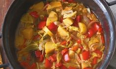 kapustova paprikova polevka Potato Dishes, Veggie Dishes, Law Carb, Multicooker, Cooking Recipes, Healthy Recipes, Crockpot Dishes, Ketogenic Recipes, Food Preparation