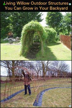 Living Willow outdoor structures that you w .-Living Willow Outdoor-Strukturen, die Sie in Ihrem Garten wachsen lassen Living Willow Outdoor structures that let you grow in your garden - Garden Structures, Outdoor Structures, Living Willow, Plein Air, Dream Garden, Garden Planning, Garden Projects, Backyard Projects, Backyard Landscaping