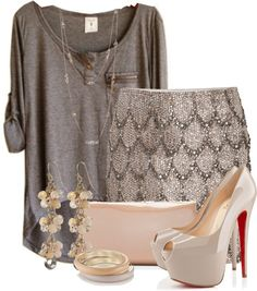 """Neutral Nights"" by sheavschaaf on Polyvore"