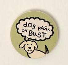 Dog Speak Car Cup Coasters Dog Park or Bust Fits in the bottom of most standard car cup holders.