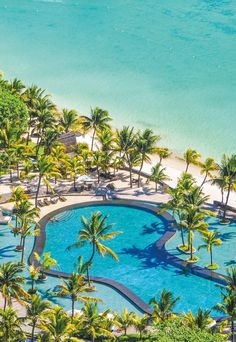 The Trou aux Biches Resort & Spa is nestled along the most beautiful #beach in #Mauritius. Sheltered from the trade winds and facing the sunset, the resort provides an ideal setting for families and honeymooners #pool