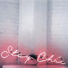 Life motto engraved on the studio walls thanks to @neonmfg. #staychic #cincstudios :@vivalahannah by chrisellelim