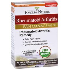 Forces Of Nature Organic Rheumatoid Arhtritis Control - 11 Ml - - Homeopathic, Botanicals & Herbs - Forces Of Nature