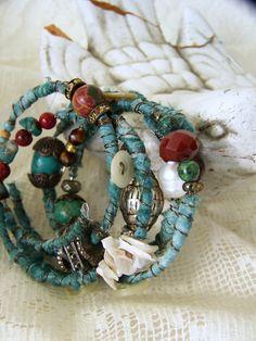 Brazalete turquesa pulsera pila gitana Vintage Boho pulsera