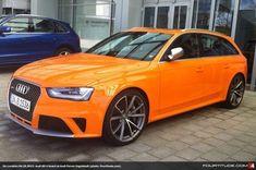On Location: Papaya Orange Audi RS 4 at Audi Forum Ingolstadt Audi Rs4 B8, Audi S4, Audi Cars, Performance Cars, Station Wagon, Car Manufacturers, Cute Photos, Hot Cars, Volkswagen