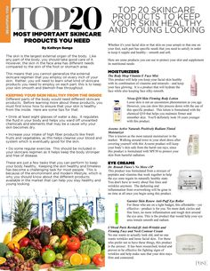 20 Most important skincare products…EVER! We can't wait to hear your thoughts on this list. Read the article in the October 2013 Issue of POSE Magazine at www.magpose.com/subscribe.