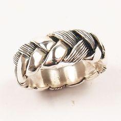 Hanne Andersen Jewellery - GAVAN RILEY - sterling silver Flax Ring - 3 ply flax, $266.00 (http://www.hanne.co.nz/rings/wedding-rings/gavan-riley-sterling-silver-flax-ring-3-ply-flax/)