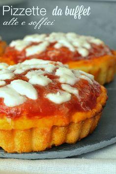 Pizzette da buffet alte e soffici