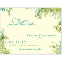 Dappled Glade - Save the Date Postcards - Lady Jae - Spring Green - Green : Front
