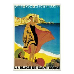Vintage French Travel Poster by Art Fan Fair
