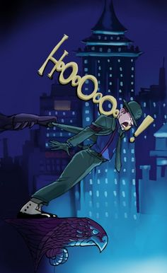 The Riddler re-enacting the Smooth Criminal video with Batman's assistance, by Sean McFarland