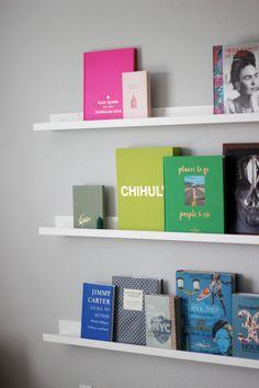 Design Coffee Table Books Front Facing Bookshelf | www.gustograceblog.com