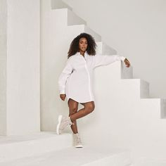 As a mom, I have those days where I know I'm going to be on-the-go nonstop Kelly Rowland, Smart Girls, White Fashion, Black Women, White Dress, High Neck Dress, Mom, White Chocolate, Dresses
