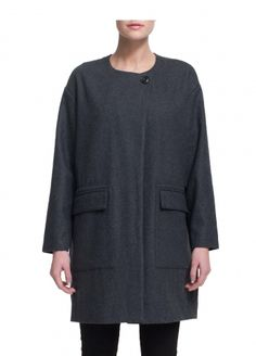 Emmanuelle wool coat black - WeSC