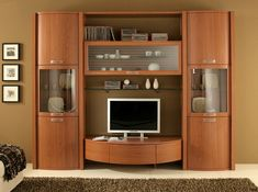 Contemporary Italian Wall Unit – Tvs – Anime pictures to hairstyles Wall Unit Designs, Living Room Tv Unit Designs, Tv Unit Decor, Tv Wall Decor, Tv Cabinet Design, Tv Wall Design, Tv Unit Furniture Design, Wooden Sofa Designs, Modern Tv Wall Units