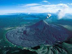 Karymsky volcano, Kamtchatka, Russia by Yann Arthus Bertrand