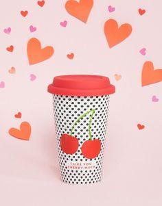 Paperchase Cherries Travel Mug