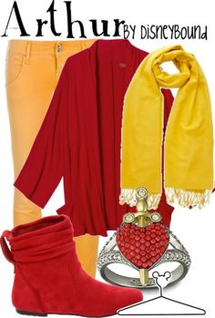 Arthur (Sword in the Stone)...I don't think I would wear these together but I like them all as separate pieces