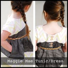 "*This is a PDF pattern and not the actual top* The ""Maggie Mae"" Tunic/Dress has modern lines, color blocked style and in seam pockets for..."