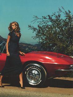 best fashion accessory? a little red Corvette, duh